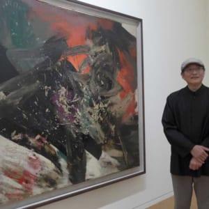 圖為藝術家趙春翔創作的「抽象」以油畫為媒材,其中蘊含東方文化底蘊。圖:本報資料照片